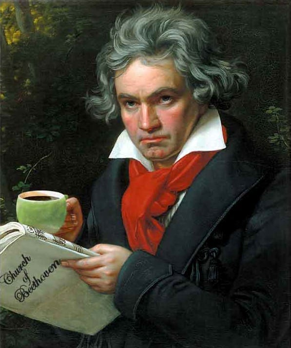 According to Ludwig van Beethoven, 60 beans made the perfect cup of joe