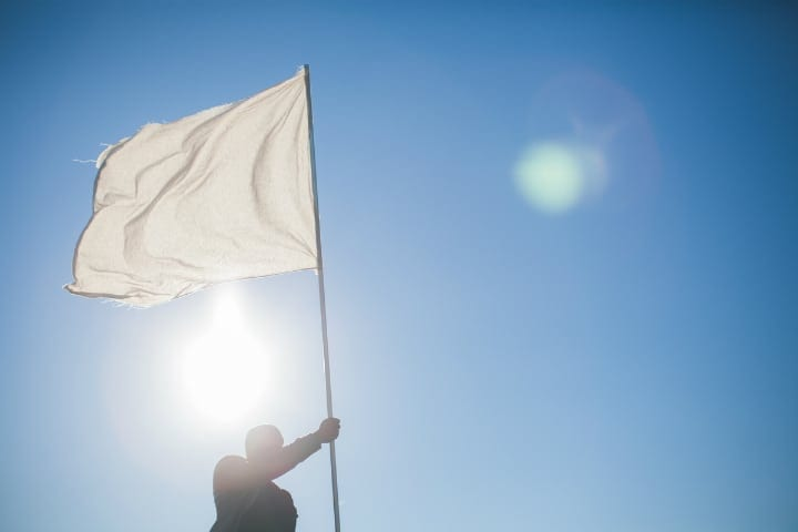 How the white flag became an international symbol for ceasefire and surrender