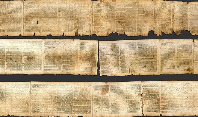 dead sea scrolls ancient parchment