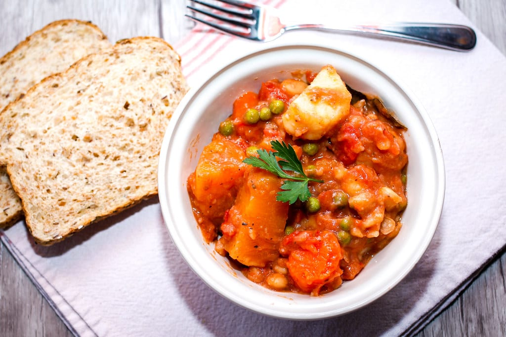 Vegetables Stew with Slice of Bread