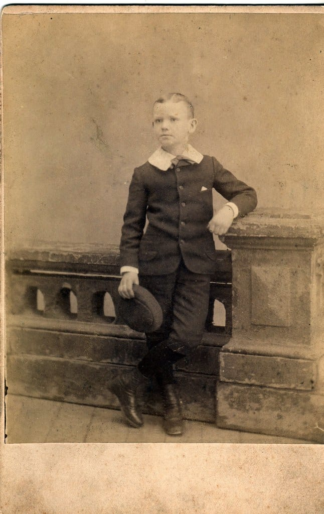 Image of an edwardian boy posing