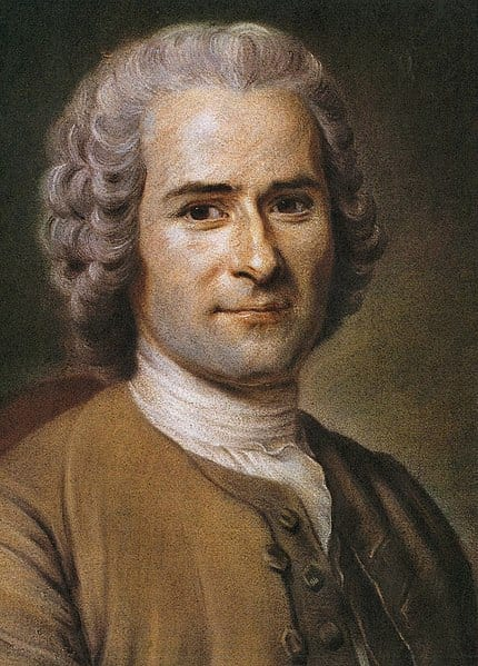 Portrait of the philosopher Jean-Jacques Rousseau