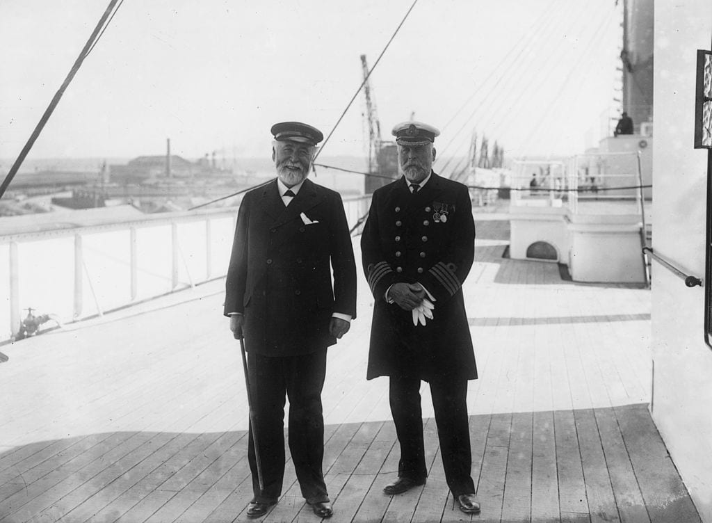 Smith And Pirrie captains of the Titanic