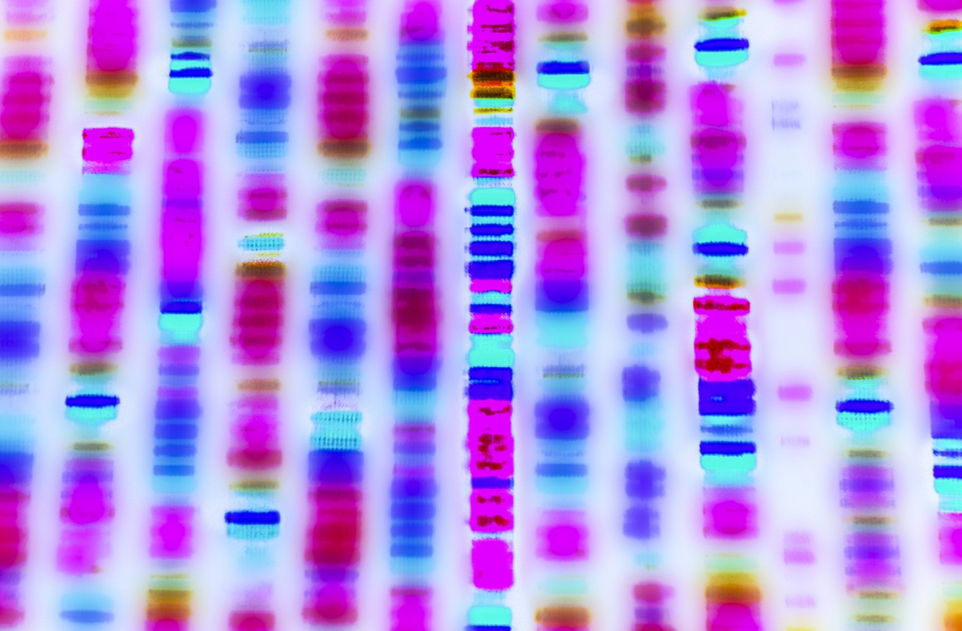 DNA sequence shows color