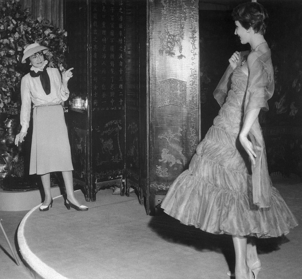 Coco Chanel Shows Newly-Designed Dress