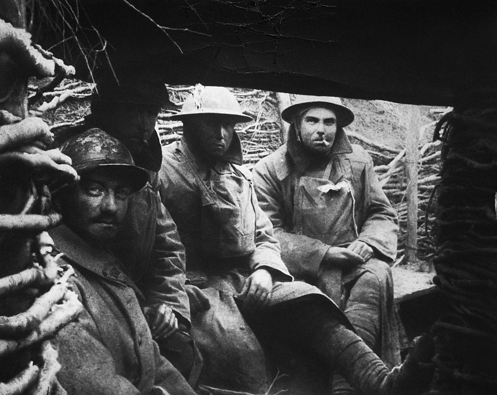 First World War Soldiers in Trench