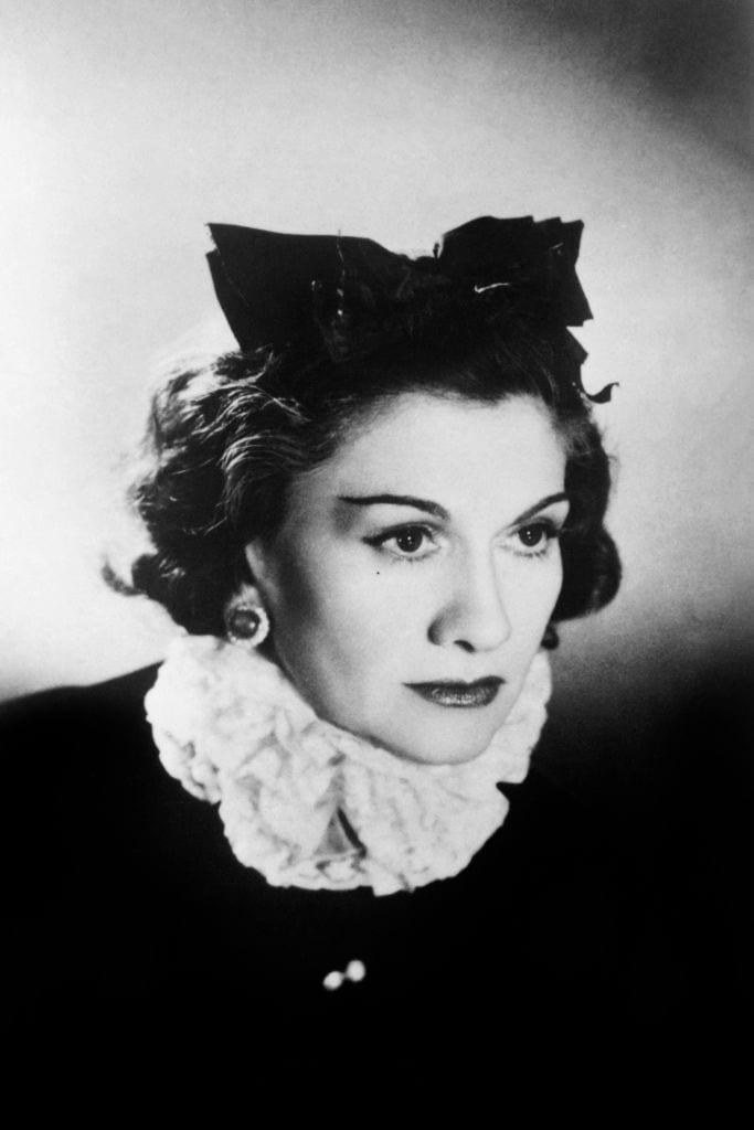 Profile of coco chanel