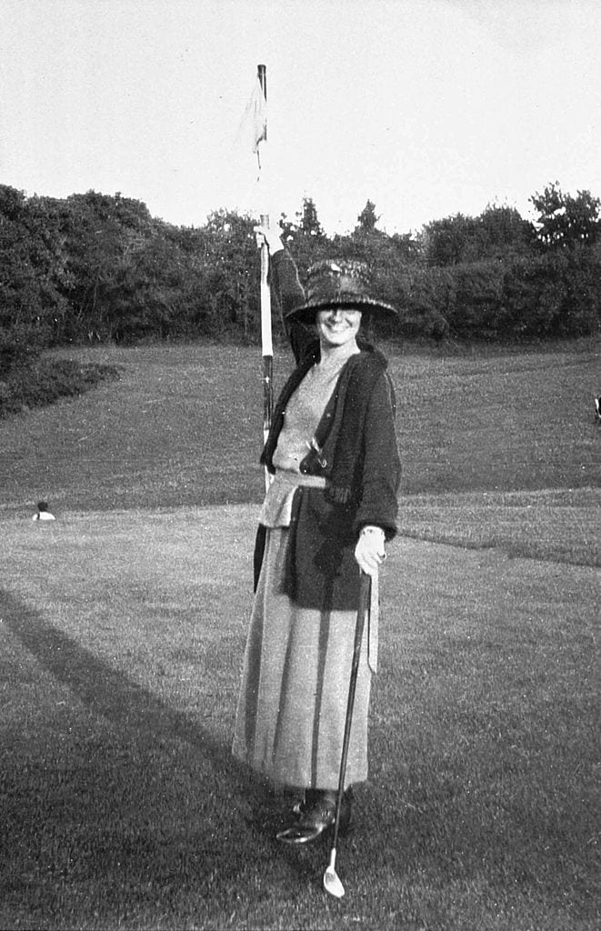 Gabrielle Chanel called Coco Chanel (1883-1971), french fashion designer, here playing golf c.1910
