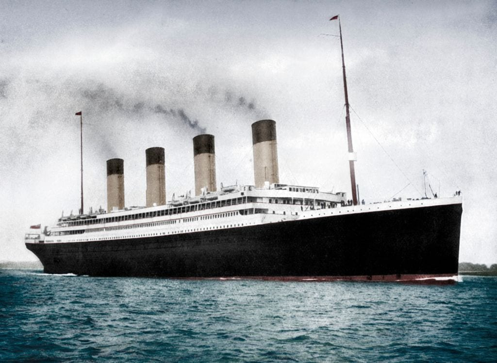 Rms Olympic in color