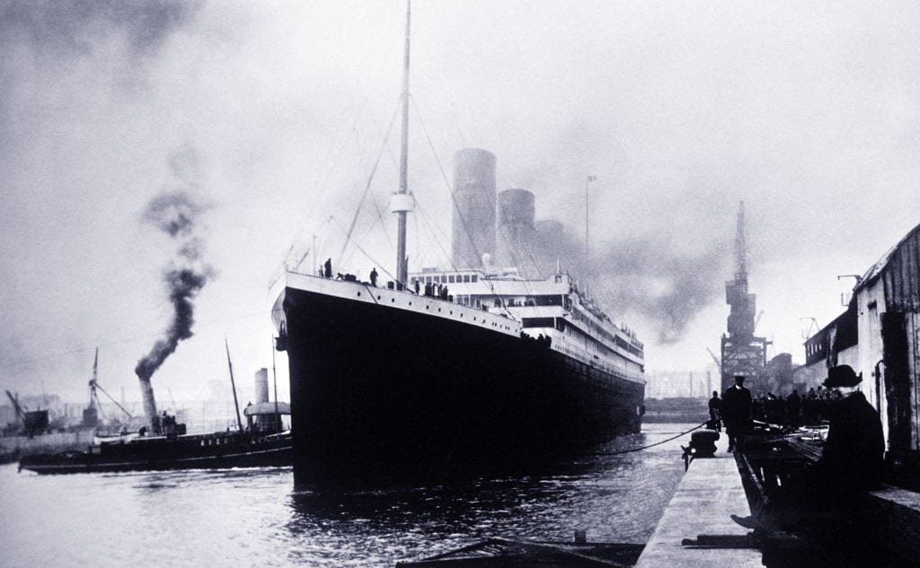 The Titanic sets sail from Southampton, Great Britain.