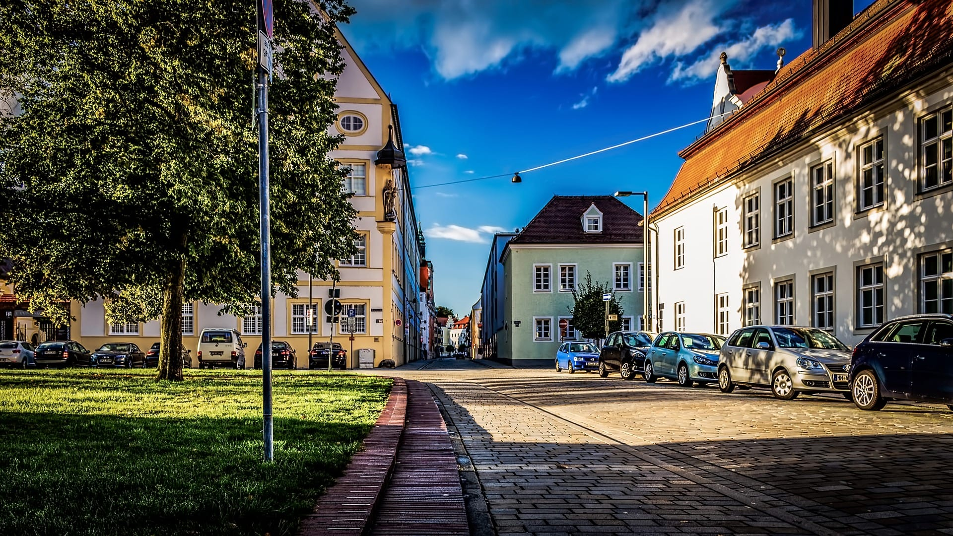 The streets of Ingolstadt Germany