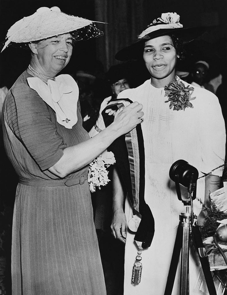 Marion Anderson Receiving Spingarn Medal Award From Mrs Eleanor Roosevelt At Richmond In Virginia On July 3Rd 1939