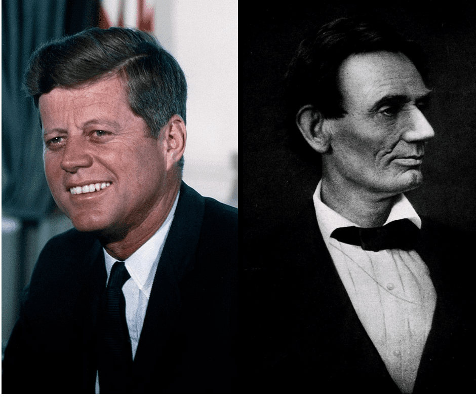 The complete list of the comparisons between Lincoln and Kennedy's assassinations