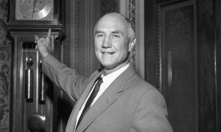 August 28, 1957: Strom Thurmond begins longest filibuster recorded to prevent The Civil Rights Act from passing
