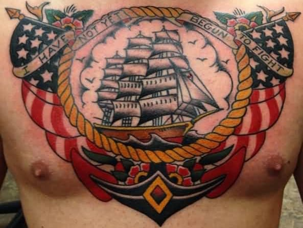 https://www.askideas.com/patriotic-us-navy-theme-old-school-tattoo-on-chest/