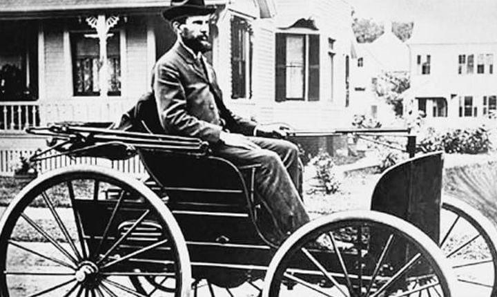 September 20, 1893: The first American gas-powered car goes for a test drive