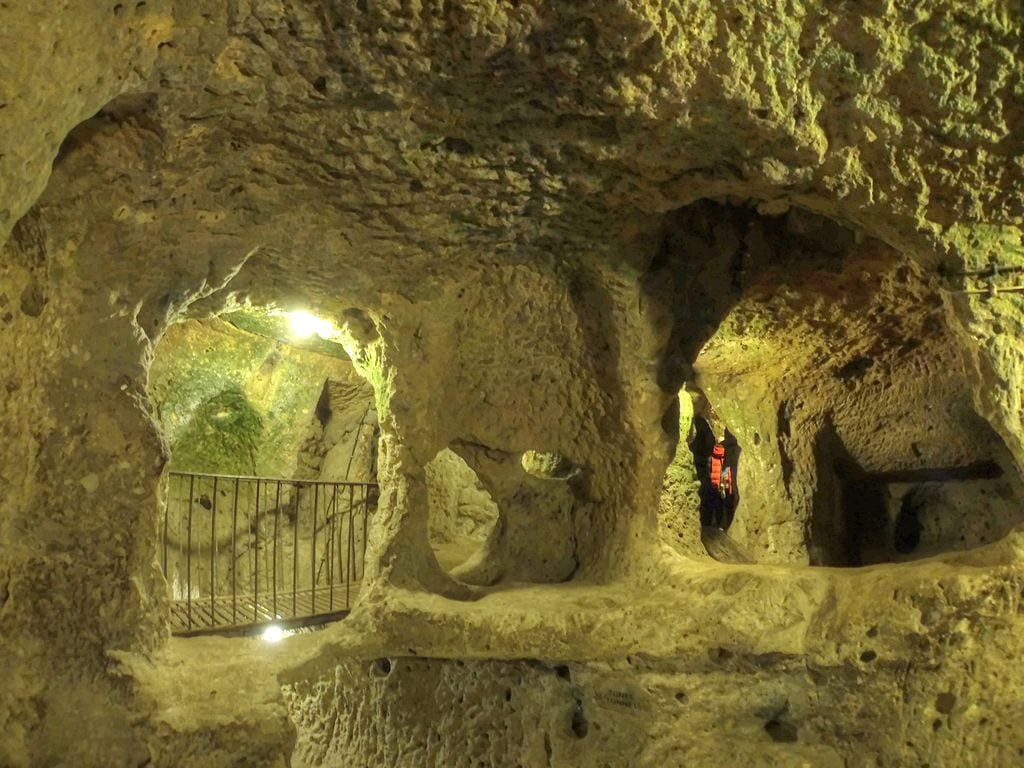 Tunnels inside the lost city of Derinkuyu