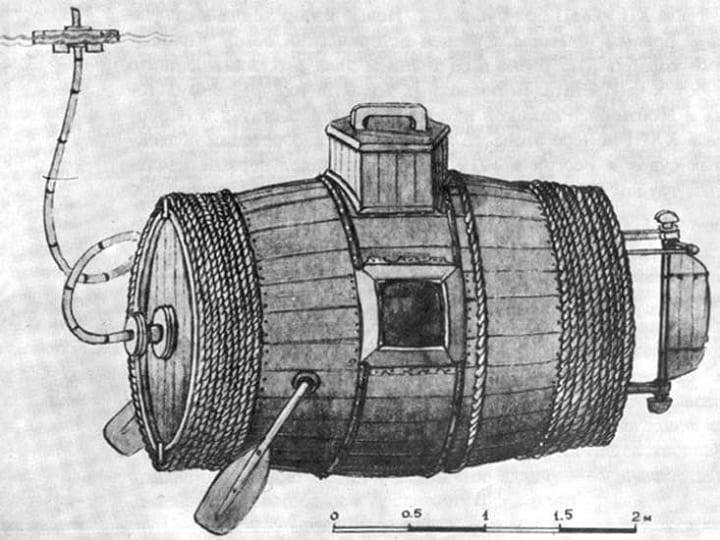 The world's first submarine was a total garbage fire of a creation, and yes, of course they still used it