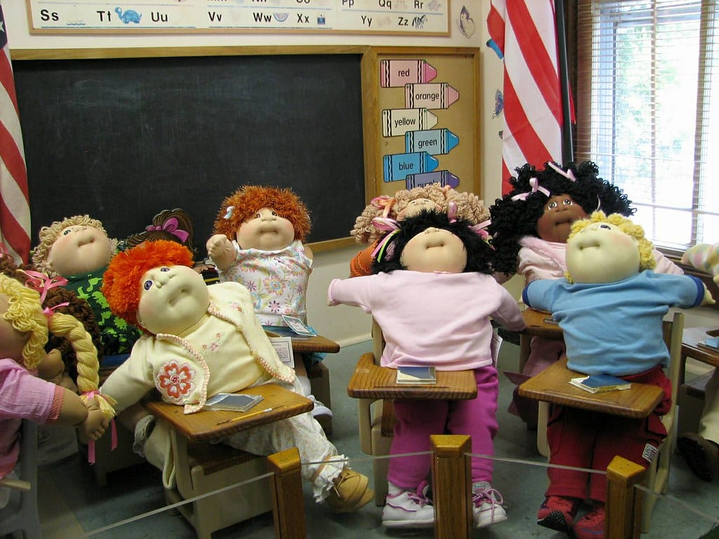 cabbage patch kids in class