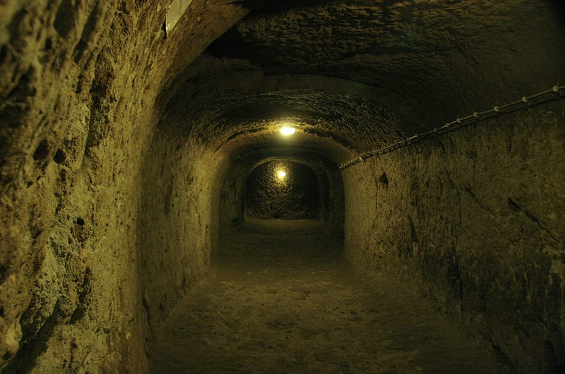 Deep tunnel that leads to the underground city