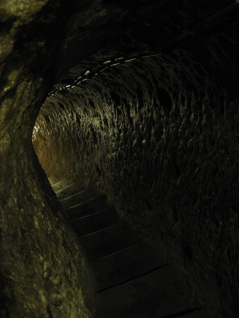 tunnel leading into the hidden city of Derinkuyu