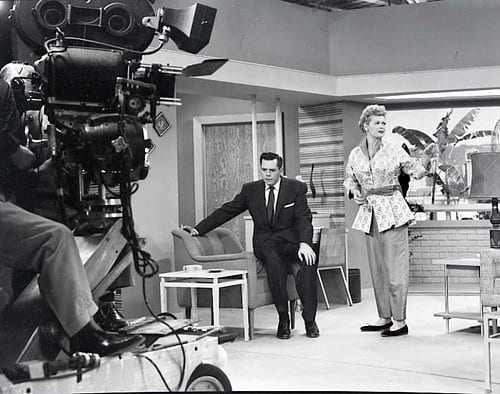 Lucille Ball, Sees candy, I Love Lucy, three camera format, desilu studios