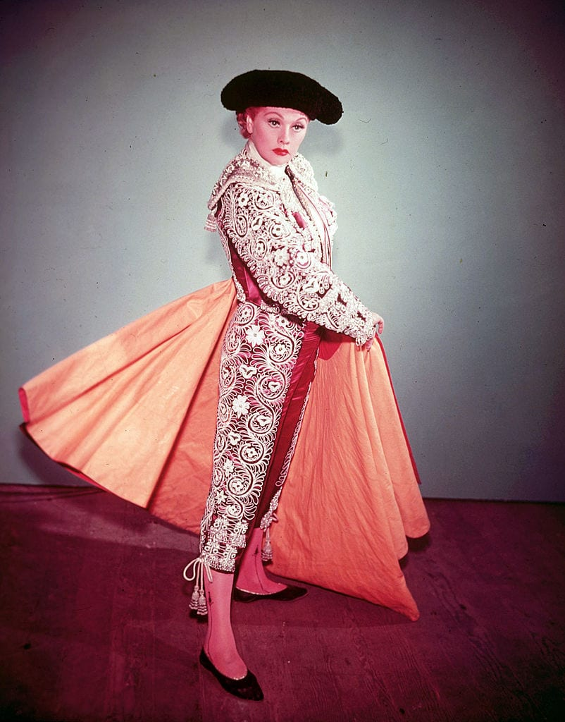 Lucille Ball dressed in a matador costume
