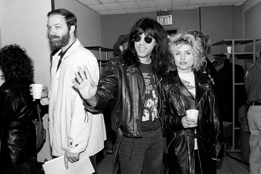 Bill Adler Marky Ramone And Debbie Harry