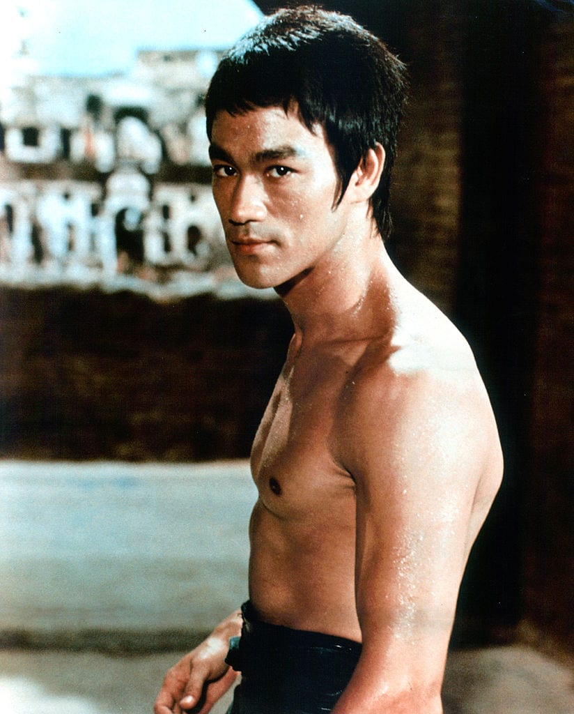 Bruce Lee at a side