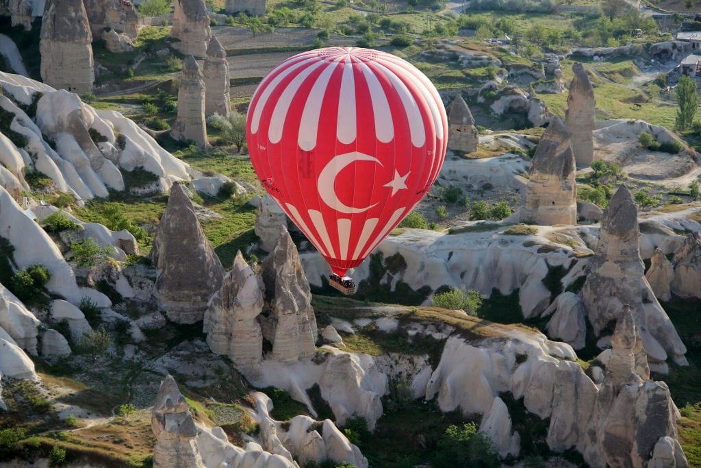 Tourists' great interest in Cappadocia