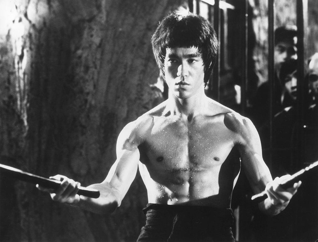 Bruce Lee ready to strike