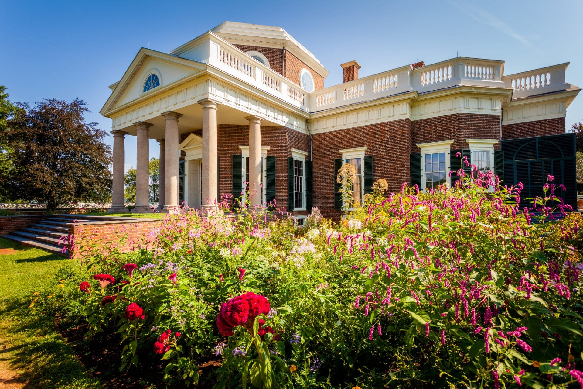 Monticello, House of Thomas Jefferson in Virginia, USA