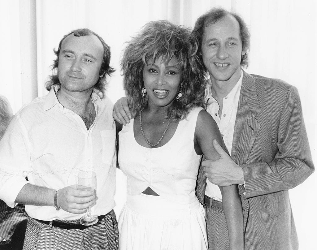 Phil Collins, Tina Turner And Mark Knopfler