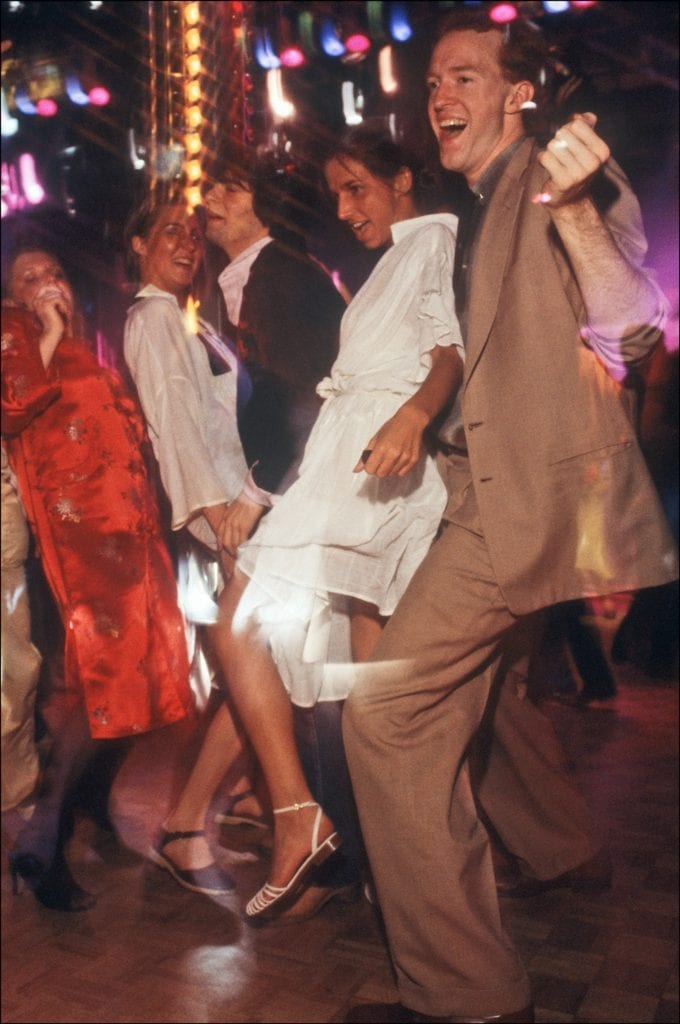 Couples dance at Studio 54