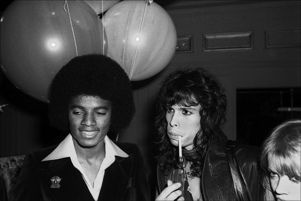 Michael Jackson and Steve Tyler at studio 54