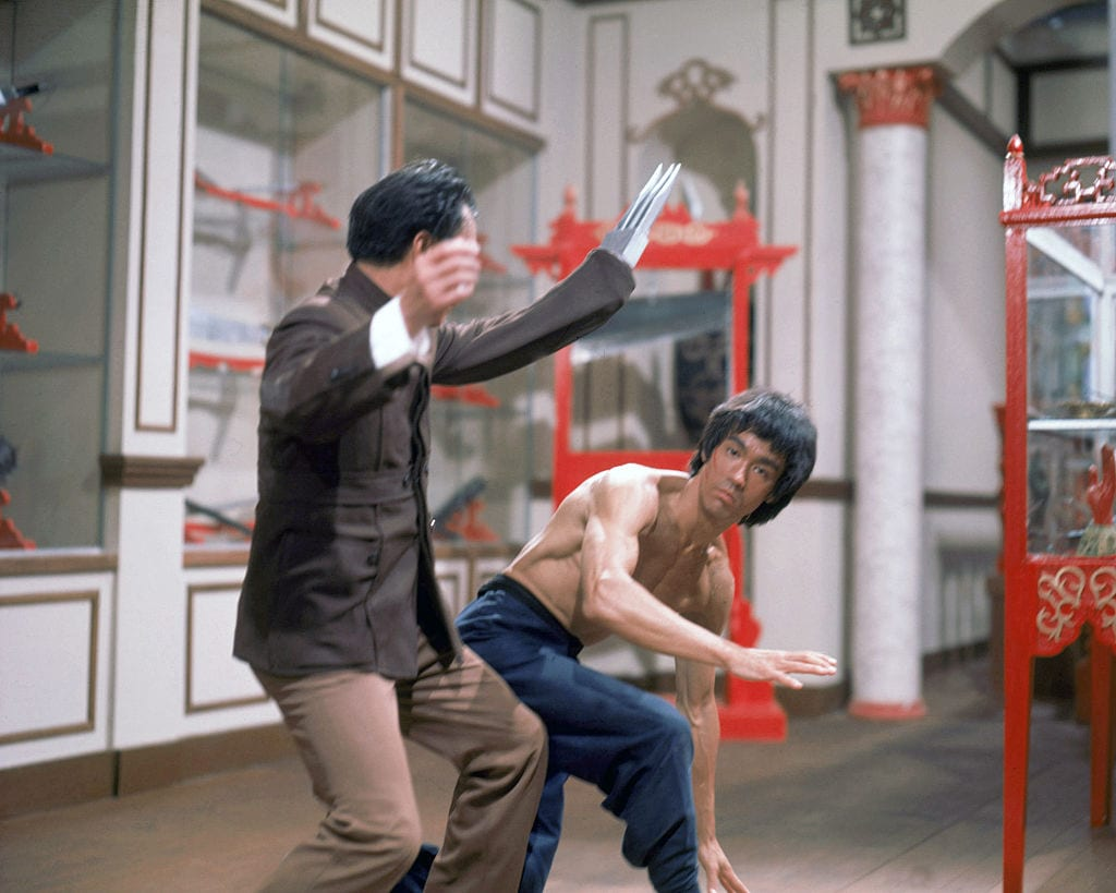 On the set of 'Enter the Dragon'