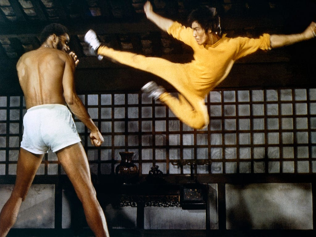 On the set of 'Game of Death'