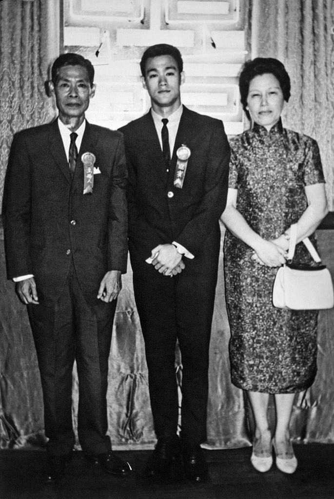 Bruce Lee, Bruce Lee's wife Linda Lee, Bruce Lee's son Brandon Lee