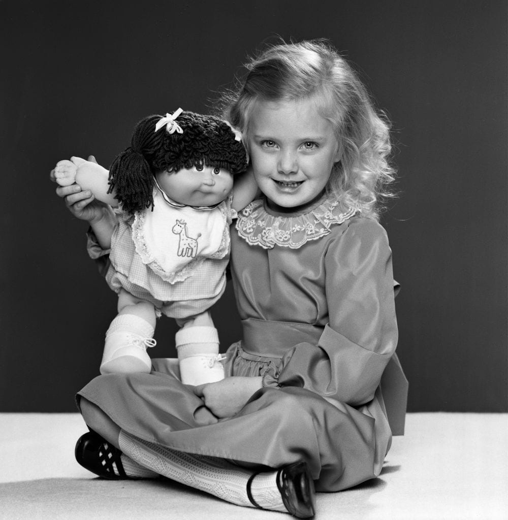 Child with Cabbage Patch Kids