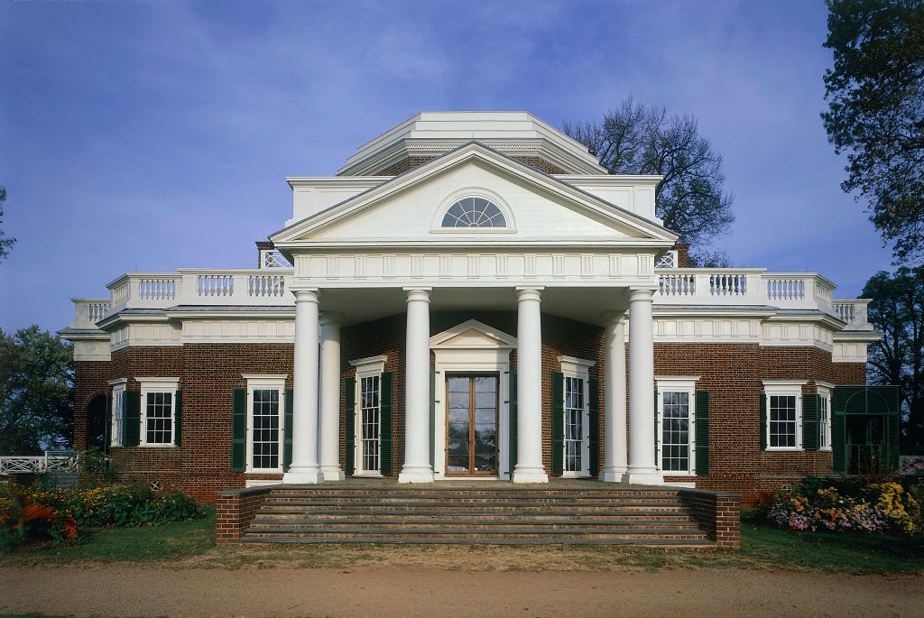 Thomas Jefferson's private home in Monticello