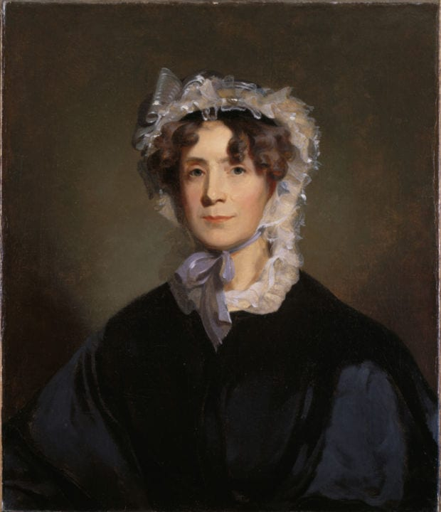 Portrait of first lady Martha Jefferson