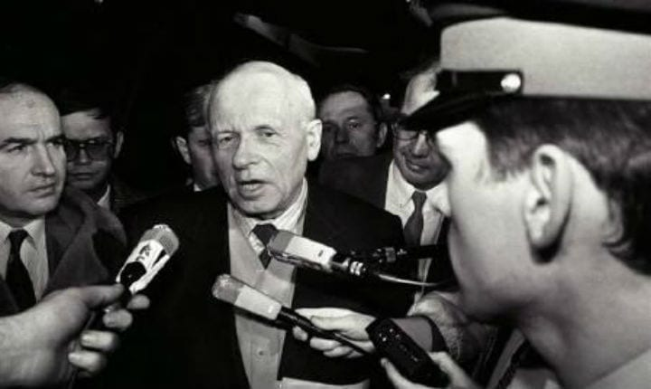 October 9, 1975: Andrei Sakharov of the Soviet Union wins the Nobel Peace Prize
