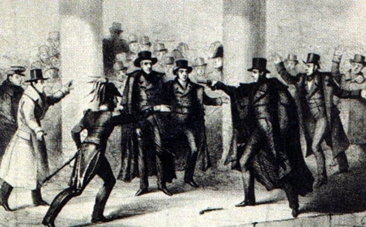 Someone managed to miss Andrew Jackson twice during an assassination attempt
