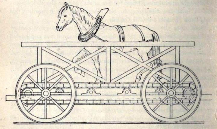 Someone entered a horse in a race against trains