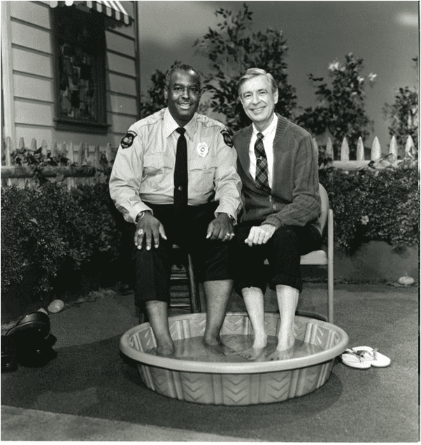 Fred Rogers with Fracnoise Clemmons