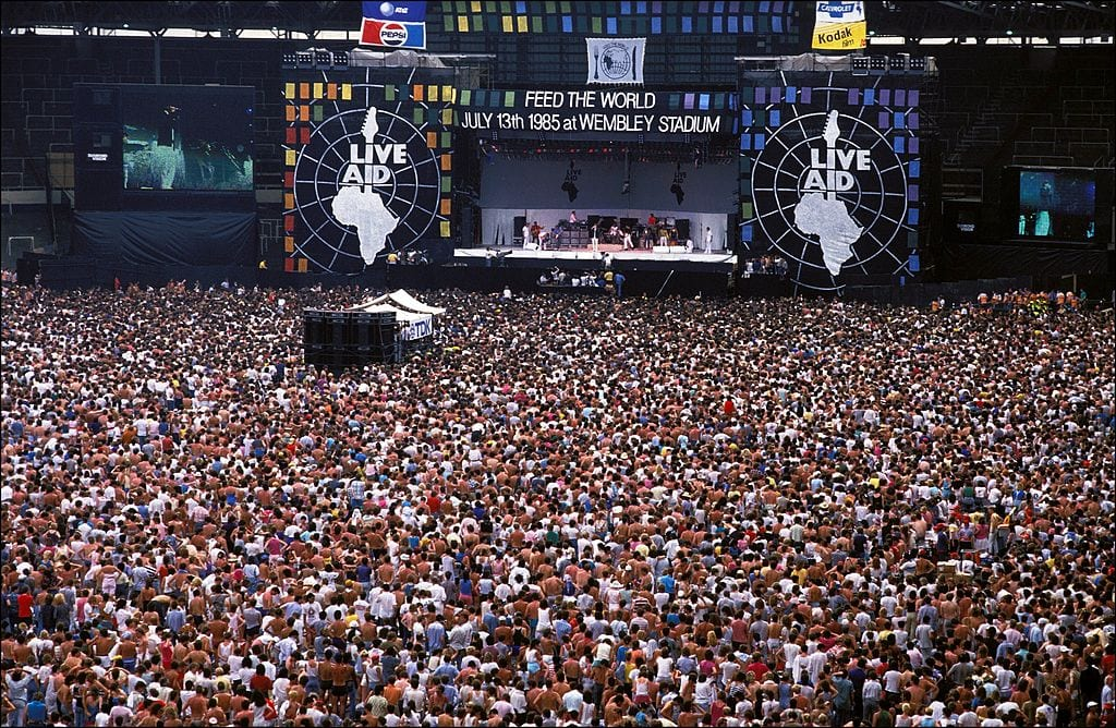 GBR: Live Aid for Africa at Wembley Stadium