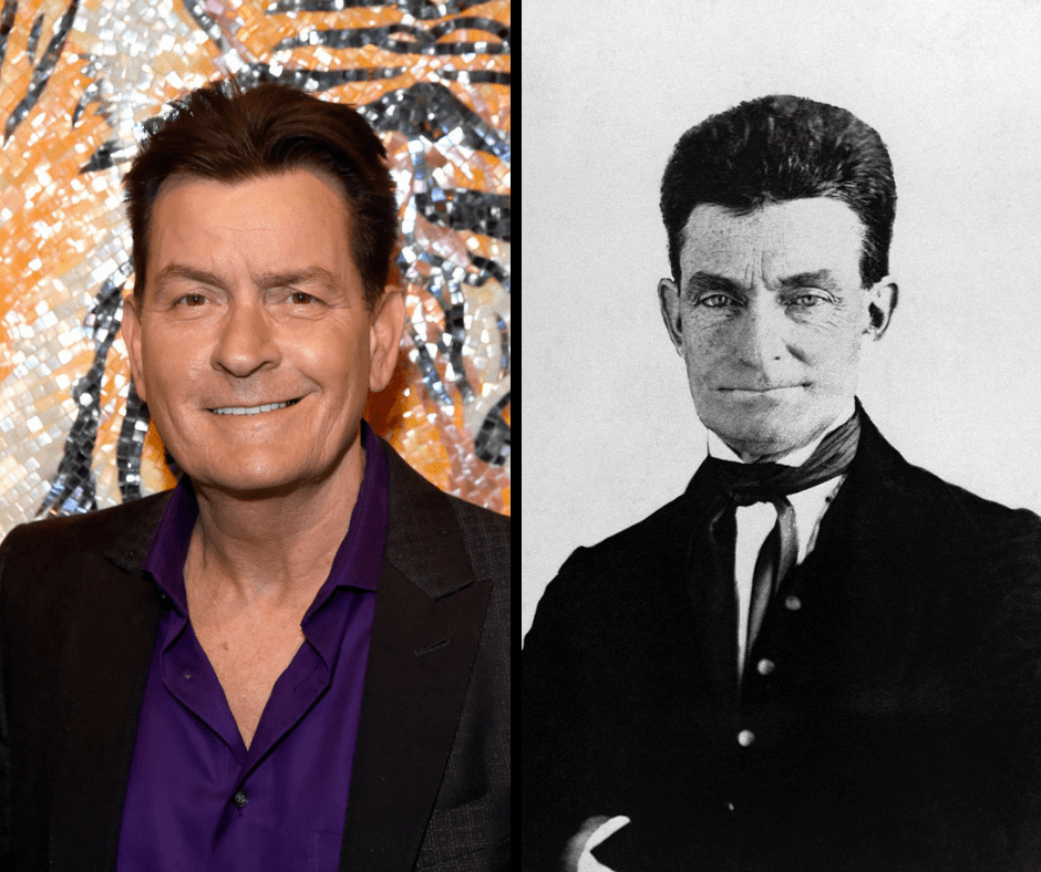 Charlie Sheen and his celebrity doppelganger, John Brown.