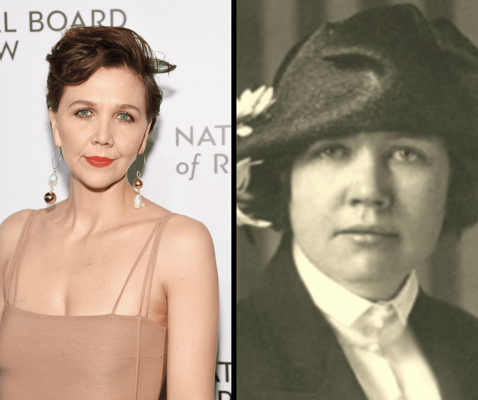 Maggie Gyllenhaal and her celebrity doppelganger.