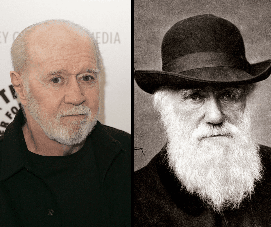 George Carlin and his celebrity doppelganger, George Carlin.
