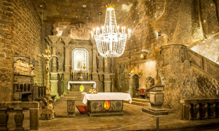 This underground city is carved entirely out of salt rock— and it's super cool